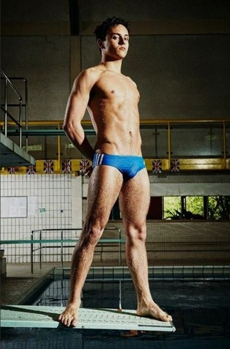 Tom Daley wallpaper with a six pack, a hunk, and swimming trunks called Tom 2012