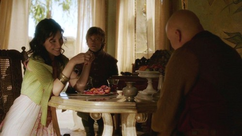 Tyrion and Shae with Varys