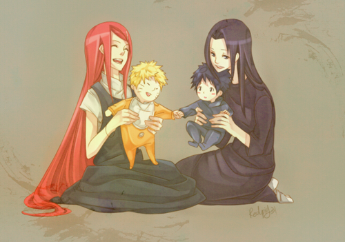 Uzumaki and Uchiha X3