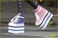 Willow Smith: Stars &amp; Stripes Sky-High Sneakers! - willow-smith photo