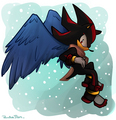 Winter Angel - shadow-the-hedgehog fan art