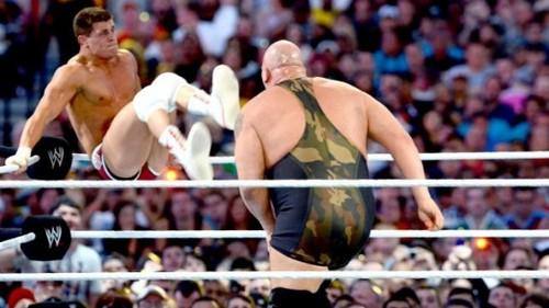 Wrestlemania 28 Results: Big दिखाना vs. Cody Rhodes