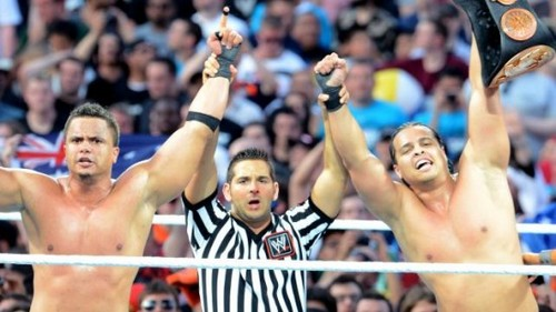 Wrestlemania 28 Results: Epico and Primo vs. Justin Gabriel, Tyson Kidd, and The Usos