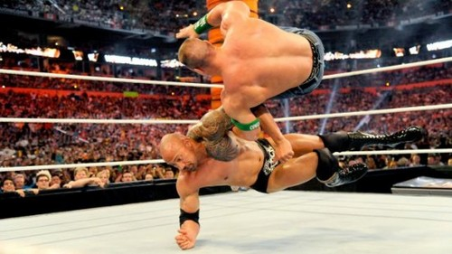 WWE Wallpaper Entitled Wrestlemania 28 Results The Rock Vs John Cena