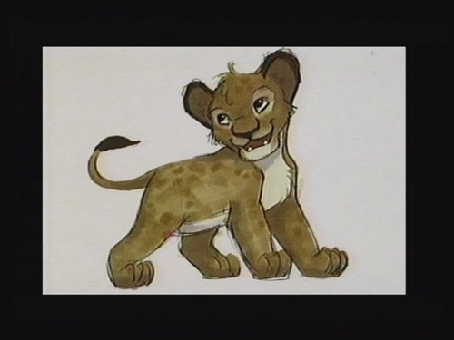 Young Simba art script