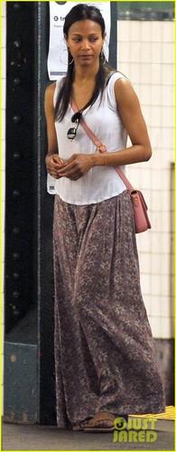 Zoe Saldana: Subway Smiles