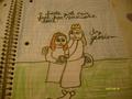 a little girl can feel her saviors love - jesus fan art