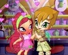 amore blushing that robinson is holding her hand - the-winx-club Icon