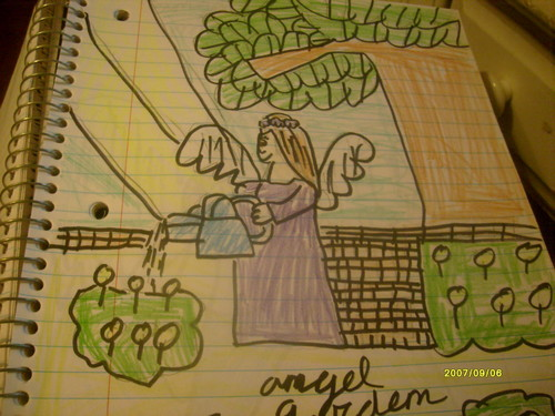angel in her garden