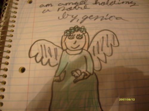 angel with کبوتر