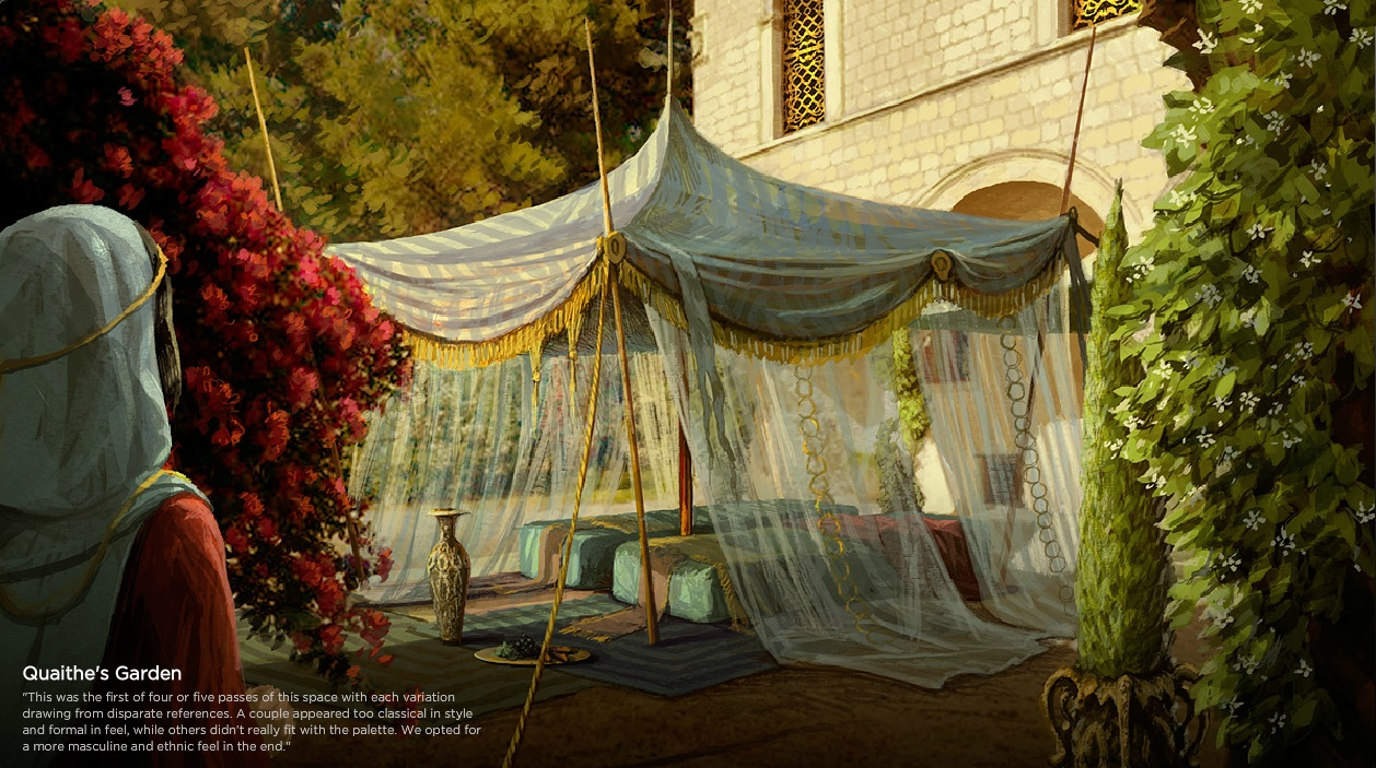 game of thrones images quaithe 39 s garden concept art hd wallpaper and background photos 30824791. Black Bedroom Furniture Sets. Home Design Ideas