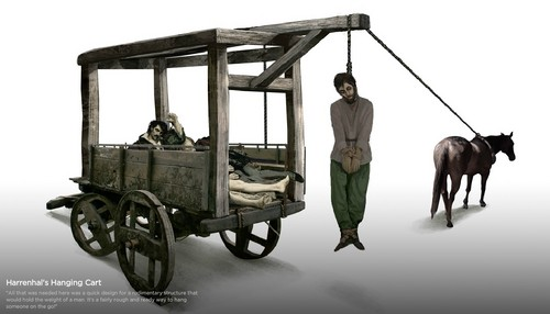 Harrenhal's Hanging cart, troli concept art
