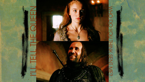 Game of Thrones wallpaper titled Sandor Clegane & Sansa Stark