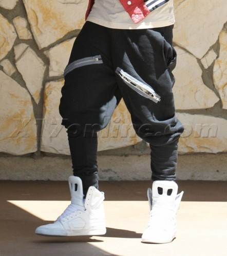 justin and his pants in LA today, 2012