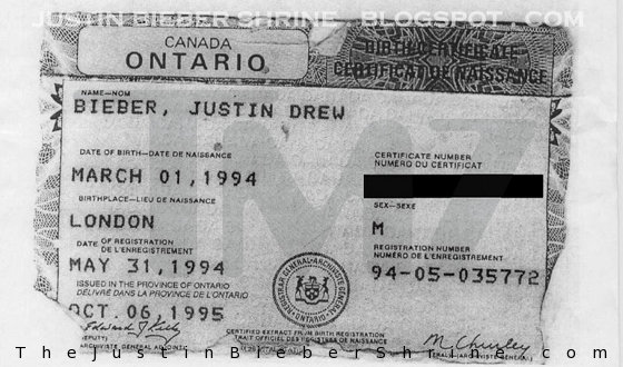 Justin Bieber images justin\'s birth certificate canada wallpaper and ...