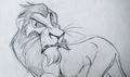 my scar drawing - hevenly-pack-pride fan art