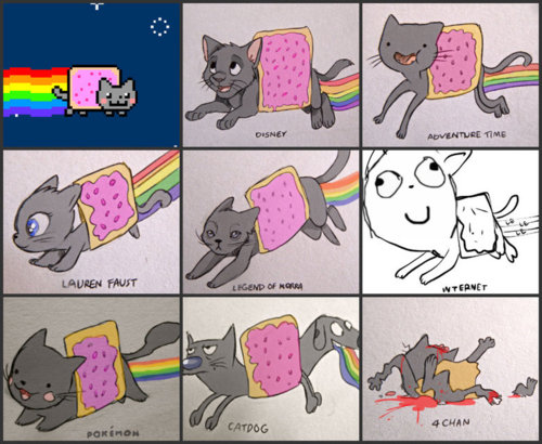 Nyan Cat Hintergrund with Anime titled nyan+cat