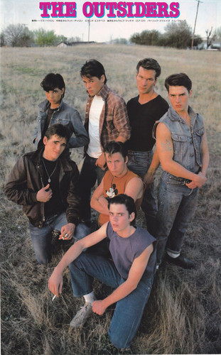 The Outsiders wallpaper probably containing a sign, a green beret, and a rifleman entitled the outsiders (rare)