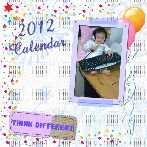 think different 2012 calendar