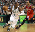 triple double vs Philadelphia round 2 - rajon-rondo photo
