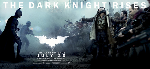 'The Dark Knight Rises' Promotional Banner ~ Batman & Bane (HQ)