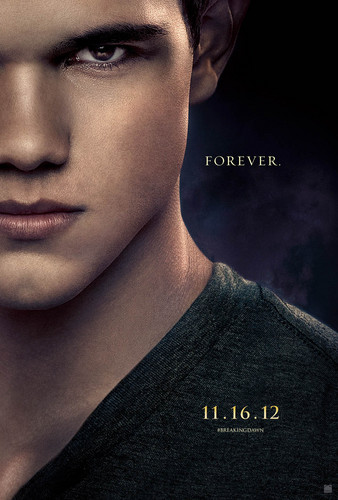 new movie poster for Taylor Lautner's upcoming film 'Breaking Dawn: Part II