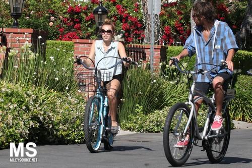 29/05 Riding Her Bike In Toluca Lake