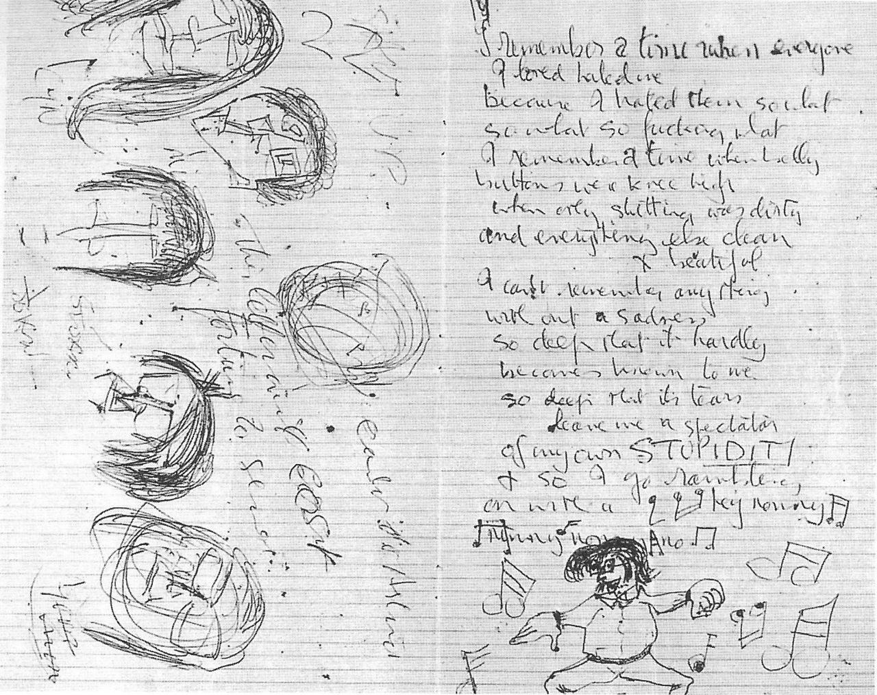 A letter to Stu Sutcliffe written kwa John Lennon