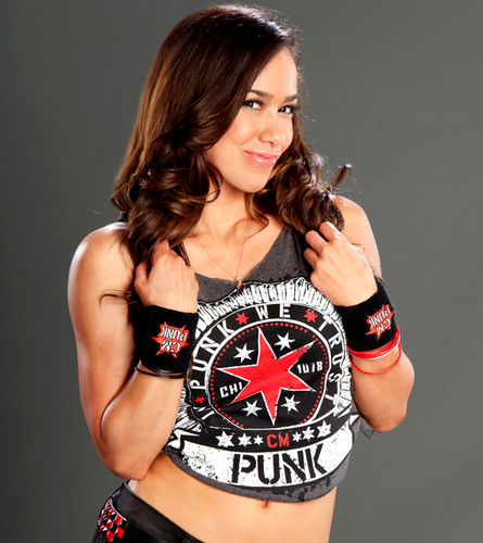 WWE wallpaper possibly with hot pants called AJ Lee