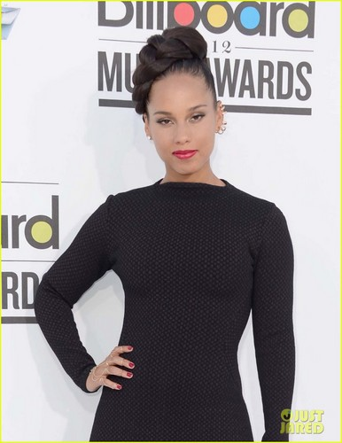 Alicia Keys wallpaper possibly with an outerwear and a pullover titled Alicia Keys: Billboard Awards 2012 with Swizz Beatz
