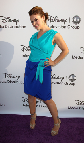 Alyssa Milano wallpaper titled Alyssa - Disney Media Networks International Upfronts, May 20, 2012