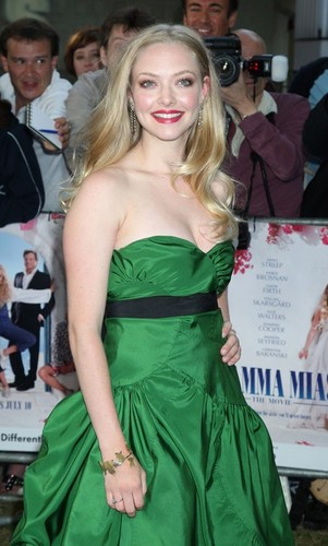 Amanda in a lovely green dress