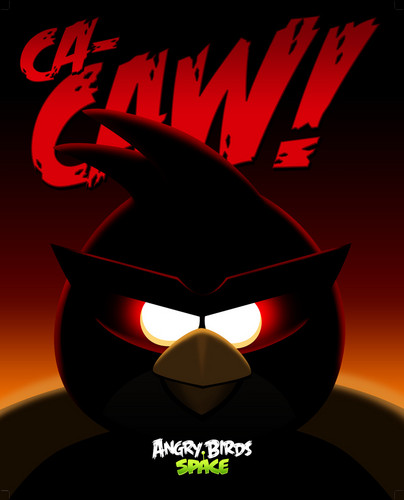Angry Birds space wallpaper entitled Angry Birds Space CA-CAW!