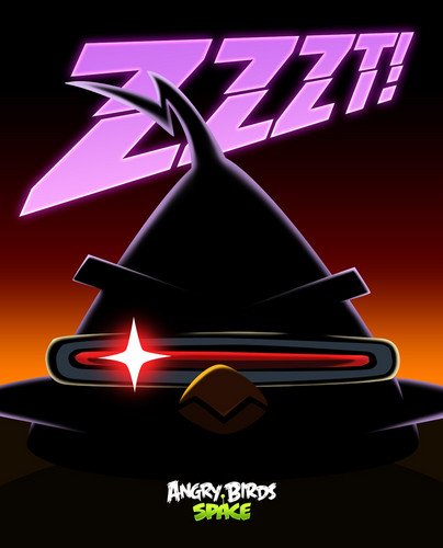 Angry Birds Space Purple Bird ZZZZT!