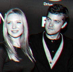 Anna Torv and Joshua Jackson wallpaper possibly with a business suit and a portrait called Anna & Josh ♥