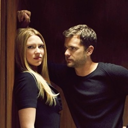 Anna Torv and Joshua Jackson Hintergrund probably with a portrait entitled Anna & Josh ♥