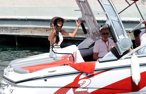 Arrives In The Paddock door Motor Launch Before The Monaco Formula One Grand Prix [27 May 2012]