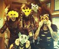 BVB members wearing masks - black-veil-brides-army-forever photo
