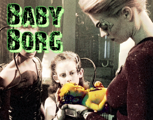 Borg Baby Resistance is Futile Bespoke Body Suit Baby Grow |Borg Baby
