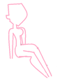 Base of a girl sitting