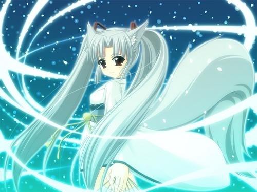 Beautiful Ice kitsune