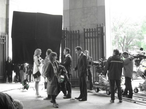 White Collar wallpaper with a street entitled Behind the Scenes Of White Collar