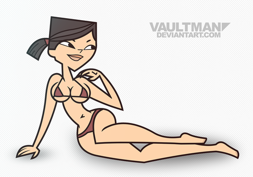 Total Drama Island wallpaper possibly with anime called Bikini Heather