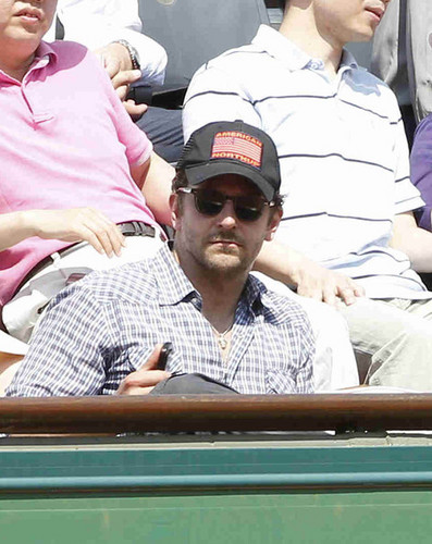 Bradley Cooper Watches The French Open