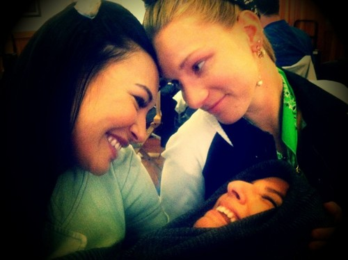 Brittana with their baby Sugar - glee Photo