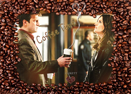 Castle wallpaper probably with a sign called CASKETT COFFEE