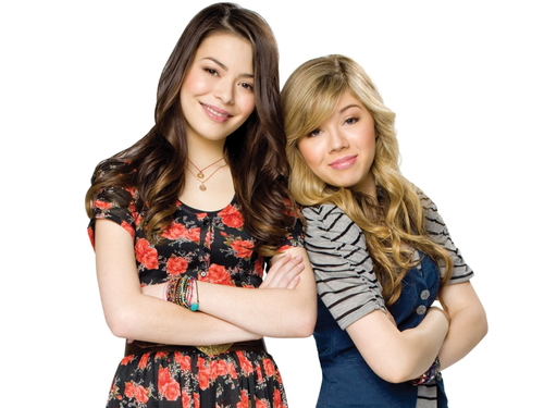 iCarly वॉलपेपर probably containing a portrait entitled Carly & Sam