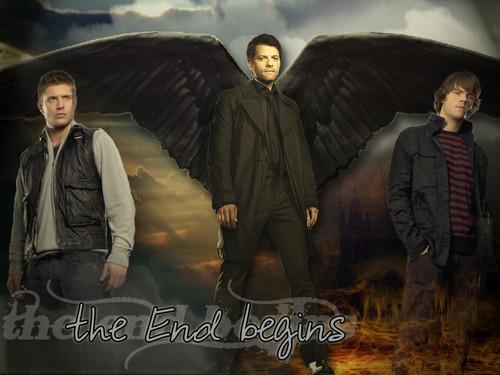 Castiel, Sam & Dean