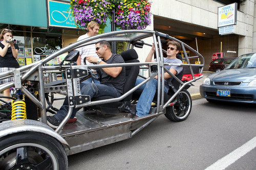 château Stars Nathan Fillion and Jon Huertas Go Joyriding (PHOTOS)