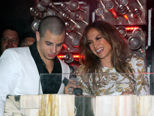 "Jennifer Lopez wallpaper with a sign called Celebrates The Launch Of Her New Single ""Goin' In"" In Las Vegas [26 May 2012]"